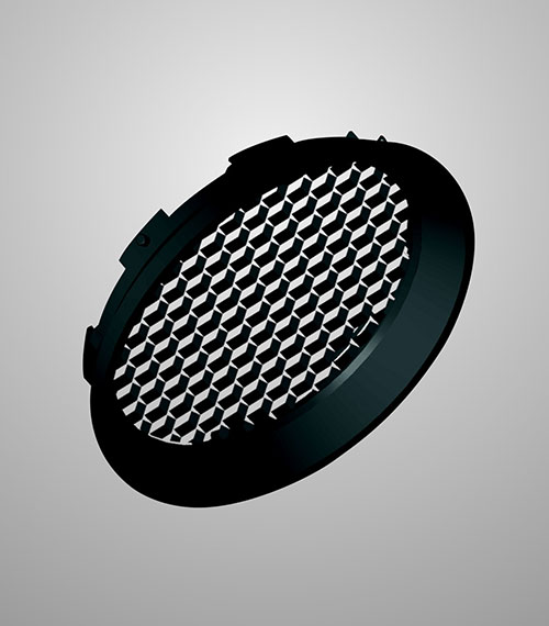 LED Schienenstrahler Star Track 95 Anti-Blend-Vorsatz 2 Honeycomb