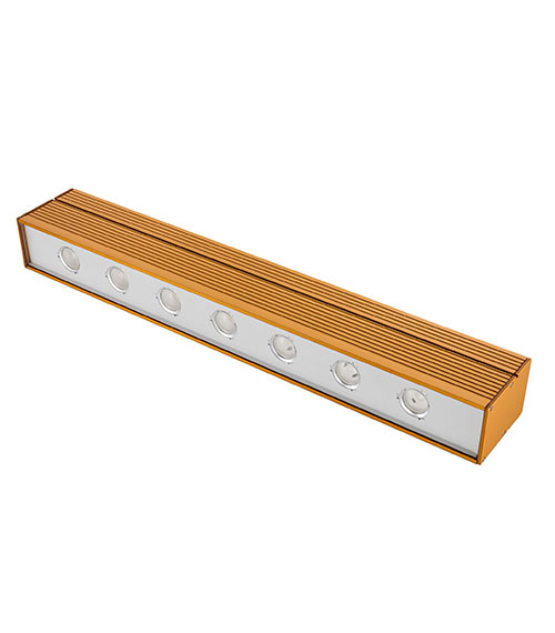 LED Hallenstrahler LUMINA 7 mit Heat Pipe Technologie, gold